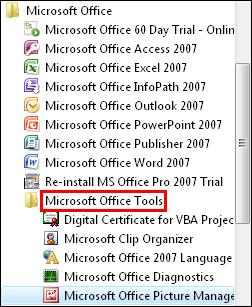 microsoft office tools
