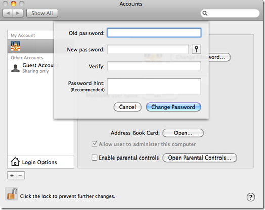 Reset Forgotten Administrator and User Passwords in Mac OS X