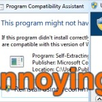 How to correct the 10 major Annoyances Windows