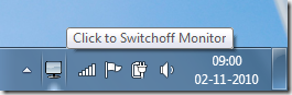 switch off laptop monitor